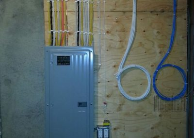 Low and high voltage installs - both neat and tidy