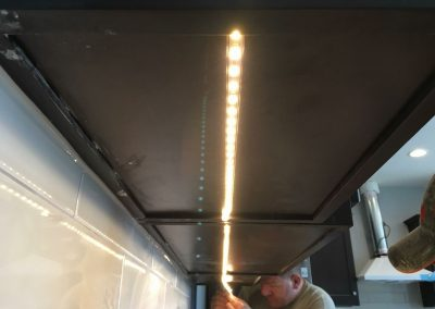 Under-cabinet LED's add elegance to any kitchen