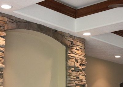 Recessed lighting beautifully accents any house