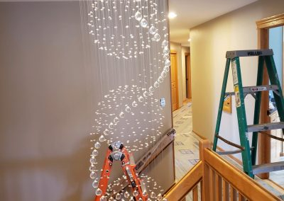 Custom lighting requires experienced installation